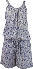 Short airy overall in hippiestyle, jumpsuit - blue