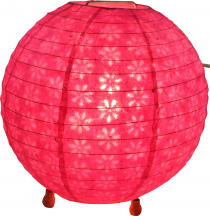 Corona round round Lokta paper table lamp/table lamp 25 cm - pink