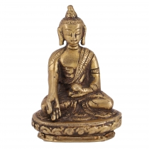 Buddha statue made of brass Bhumisparsa Mudra 8 cm - model 5