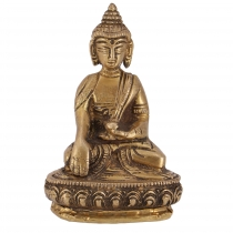 Buddha statue made of brass Bhumisoara Mudra 10 cm - model 2