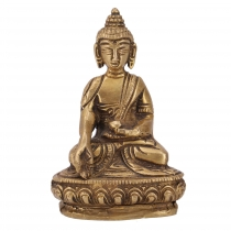 Buddha statue made of brass Bhumisparsa Mudra 10 cm - model 13