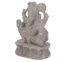 Ganeah soapstone figure, Ganesha sculpture - model 2