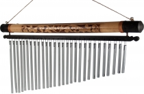 Aluminium chime, wind chime with bamboo - Version 8