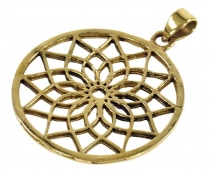 Indisches`Flower of life` Amulett, Talisman Medaillon - Model 3