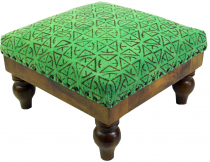 Arabic-Moroccan kilim floor stool, oriental seat with wooden fram..