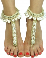 Barefoot sandals, anklets, foot jewellery, goa jewellery, barefoo..