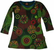 Embroidered girls tunic, ethnic mini dress, children dress - gree..