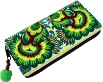 Embroidered Ethno Wallet Chiang Mai, Boho Wallet - lemon