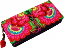 Embroidered Ethno purse Chiang Mai, Boho purse - pink/blue