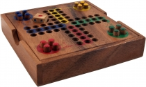 Board game, board game made of wood - Ludo