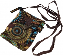 Neck pouch, purse - brown