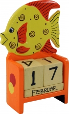 Colourful children`s calendar - Fish