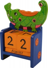 Colorful Kids Calendar - Crocodile