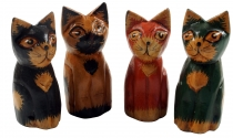 Deco cat, wooden cat