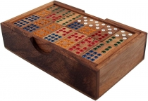 Board game, parlour game made of wood - Domino