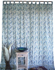 Thin curtain, curtain (1 pair of curtains, curtains), hand printe..