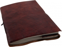 Thin notebook with leather cover 12*17 cm
