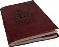 Thin notebook, leather book with `Ganesh` cover 12*17 cm