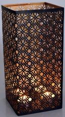 angular metal lantern light, suitable for tea light candles or as..