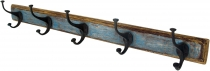 5`er Vintage coat hook, hook strip - antique blue