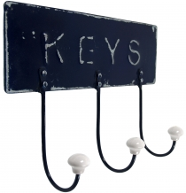 3 he Vintage wall hook made of metal - Keys