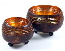 Exotic coconut tea light in 2 sizes