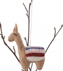 Felt decoration Lama, handmade animals from felt, tree hanging - ..