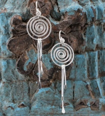 Ethno Silver Earrings - Spiral
