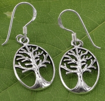 Ethno silver earrings `Tree of life` - 3