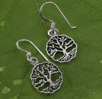 Ethno silver earrings `Tree of life` - 4