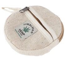 Round Ethno Hemp wallet, pencil case