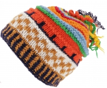 Colorful wool cap with soft lining - colorful