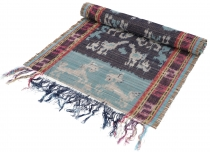 Exotic ikat table runner, wall hanging - 44*145 cm colorful