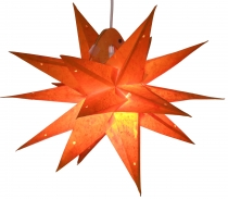 Foldable Advent illuminated paper star, 3D poinsettia - Multipoin..