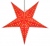 Foldable Advent illuminated paper star, Poinsettia 60 cm - Androm..