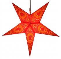 Foldable Advent light paper star, Christmas star 60 cm - Helios