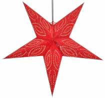 Foldable Advent illuminated paper star, Poinsettia 60 cm - Demian..