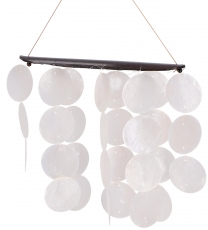 Long shell wind chime, Klangspiel - white