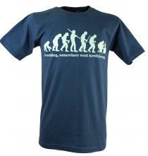 Fun T-Shirt `Evolution` - blue