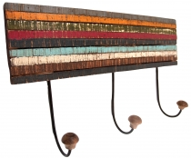 Wardrobe rail, Vintage hook rail multicolor