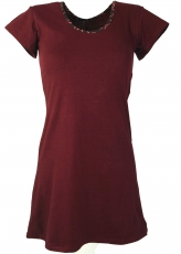 Goa mini dress Boho-chic - bordeaux