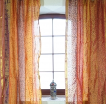 1 pair of curtains (2 pcs.) curtain from patchwork saree fabric, ..