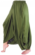 Hippie Skirt Aladin Pants Skirt - olive