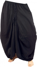 Hippie Skirt Aladin Pants Skirt - black