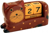 Wooden Calendar - Cat brown