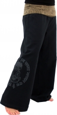 Pants Buddha Goa wellness pants yoga pants hippie pants - black