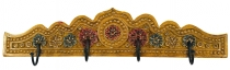 Indian vintage hook rail, wardrobe - Design 1
