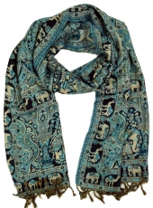 Indian pashmina scarf, scarf, boho stole with paislay pattern - t..