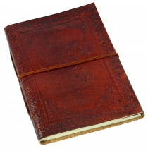 Leather book, notebook, diary, writing book with cover