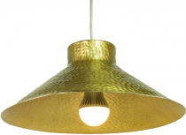 Brass ceiling lamp/ceiling lamp Jabalpur, hand beaten - model 5